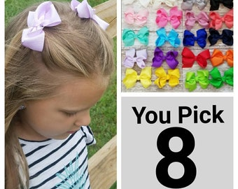 Hair Bows, Hair Clips, Baby Hair Clips, Toddler Hair Clips, Girl Hair Clips, Baby Clip, Toddler Clip, Bow Clips, Pigtail Clips