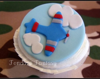 Airplane Cupcake Topper