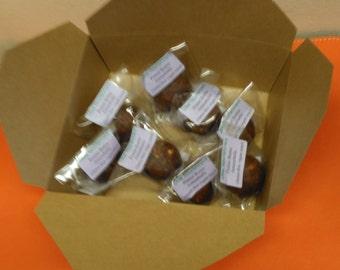 Box of ten vegan raw chocolate truffles called Amazeballs