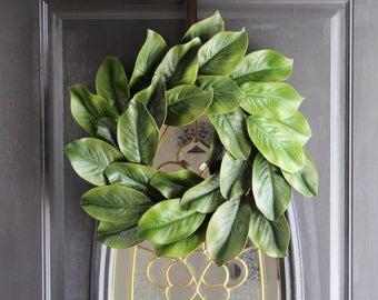 Summer Wreath, Magnolia Wreath, Spring Wreath, Greenery Wreath, FrontDoor Wreath, Everyday Wreath, FarmHouse Wreath