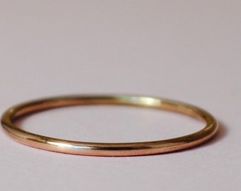 Thin Gold Ring/ Size 2.25/Rose Gold Ring/Thin Gold Band/Pink Gold Filled Ring/Pink Gold/Tiny Gold Ring/Rose Gold Filled Teeny Ring/Thin Ring