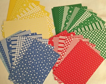 65 Colorful Patterned Craft and Scrapbook Sheets