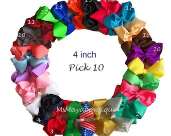 Hair bows for toddler girls, 4 inch hair bows, Valentine hair bows, hair bows, baby girl hair bows, baby gift set, gift for baby girls