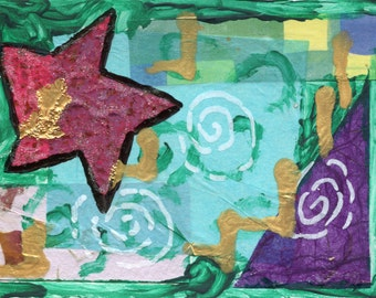 Abstract Card Study #13 - 4x6 greeting card