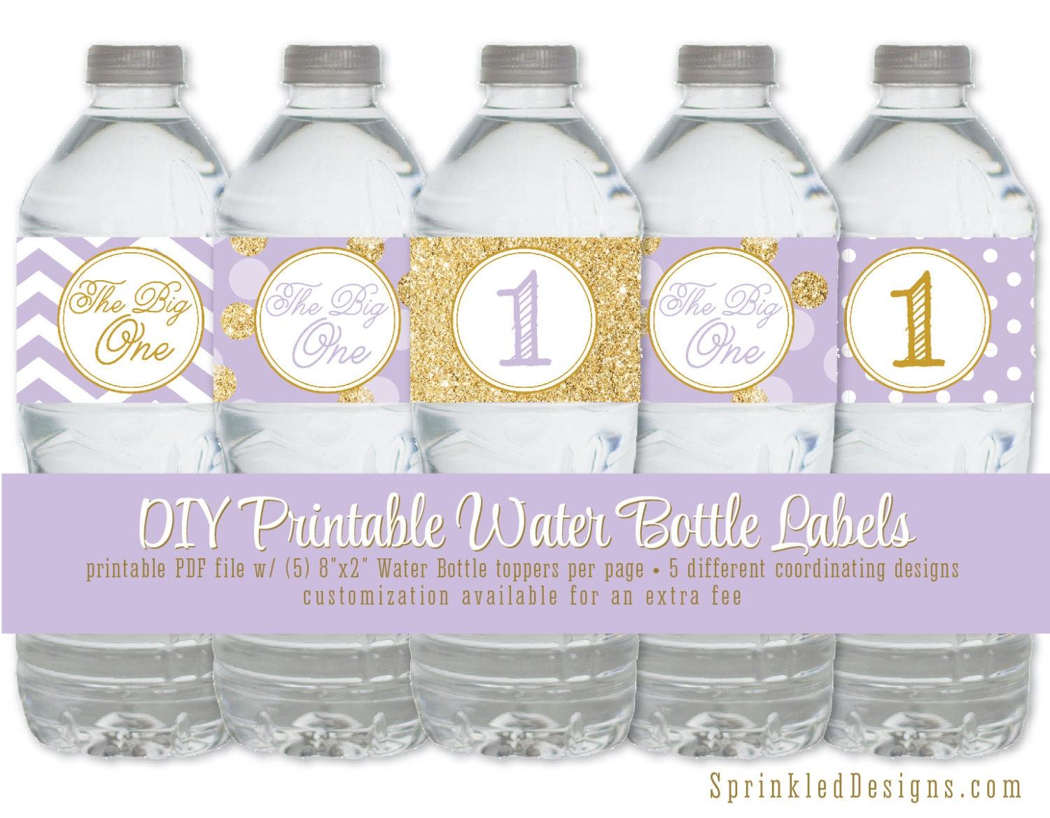 Printable Water Bottle Labels Drink Label Wrappers Wraps
