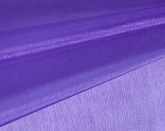 Royal Purple Organza Fabric by the Yard, Wedding Decoration Organza Fabric, Sheer Fabric - Style 1901