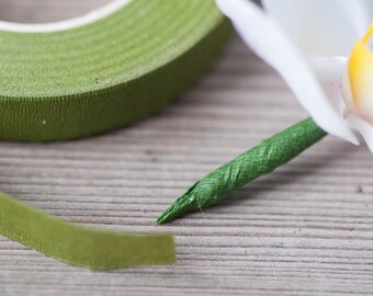 Green Florist Tape Floral Stem Tape Flower Tape Stem Wrap Tape Stretchy Tape Bouquet Corsage Supplies Boutonniere Tape Wedding Supplies