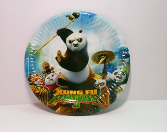 Kung Fu Panda Paper plates 10 pcs. Paper plate for children\u0027s party or birthday. & Kung Fu Panda Paper cups 10 pcs. Panda Po Paper cups for