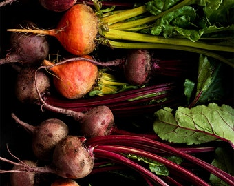 Oversized Art — Eat Your Beets Food Photography, Photo Print, Vegetable Photograph, Dining Room Decor, Kitchen Decor, Home Decor, Food Art