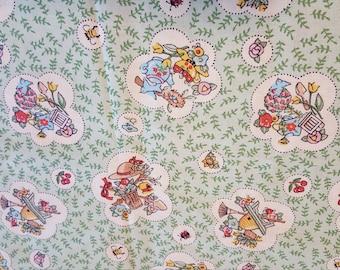 "Vintage Mary Engelbreit Fabric "" At Home With Mary Engelbreit"" 1994 ~ 1 Yard"