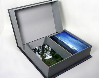 Photo box, Clamshell Box, for 4x6 Photos, Handmade Keepsake, Clamshell, Memory, Wedding Box, Baby Box, Keepsake Box