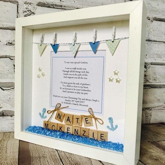 Christening Frame Personalised Chistening Gift Goddaughter