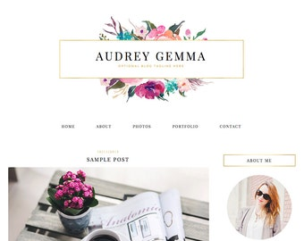 "Blogger Template, Blog Template, Blog Design - ""Audrey 