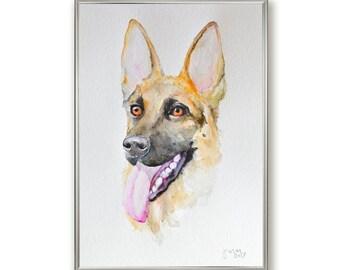 Custom Pet Portrait, Watercolor Painting, Pet Memorial, Dog Portrait, Pet Portrait from Photo, Pet, Cat, Dog Lover Gift, Loss Gift, Original