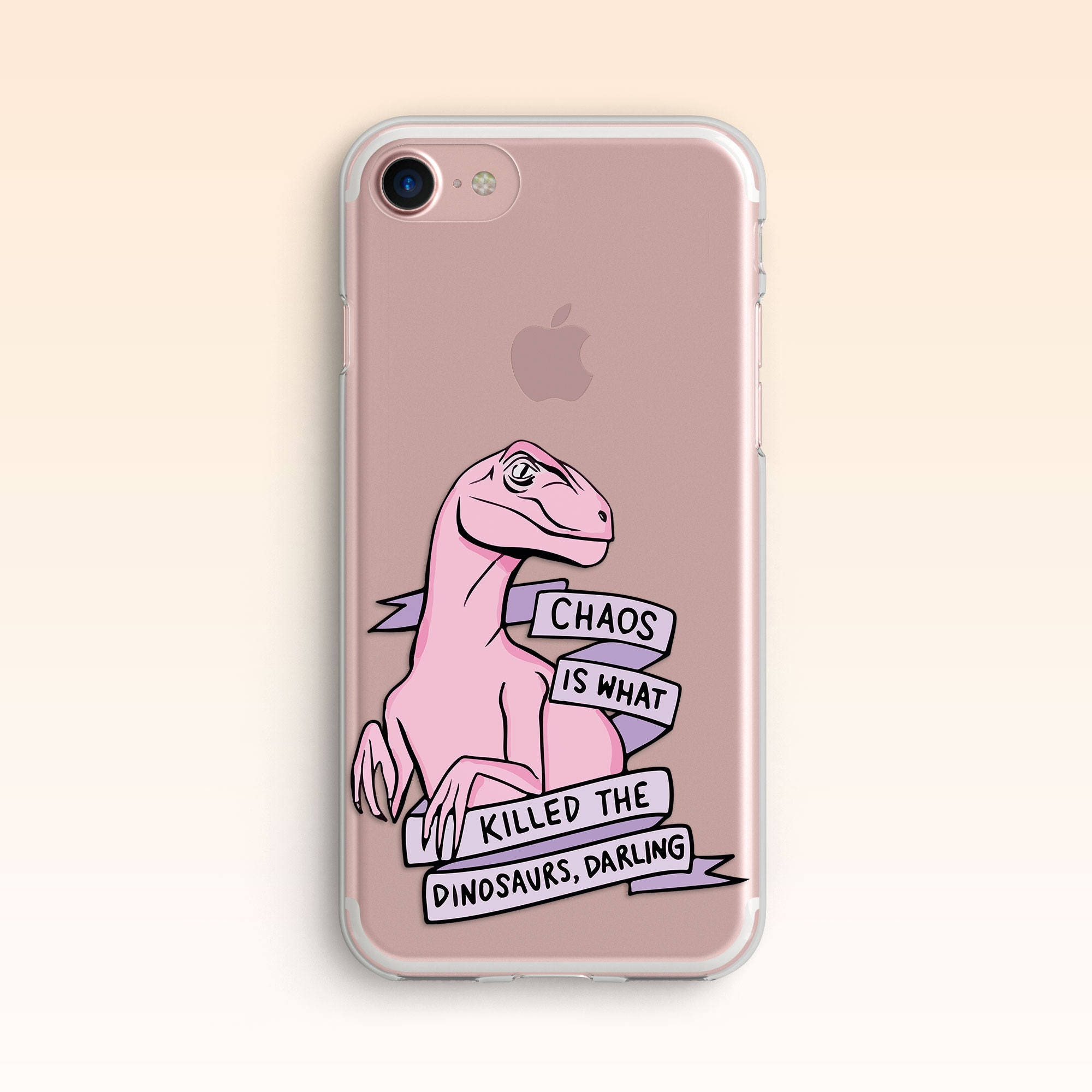 Dinosaur Case for Samsung S8 Clear iPhone SE Case iPhone 7