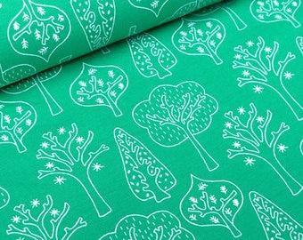 Trollskog Green by Tidöblomma Fabrics (Germany) - Cotton Lycra Jersey
