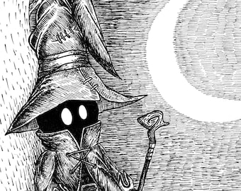 Vivi- Maybe We Don't Exist- FFIX inspired A4 art print by Jon Turner