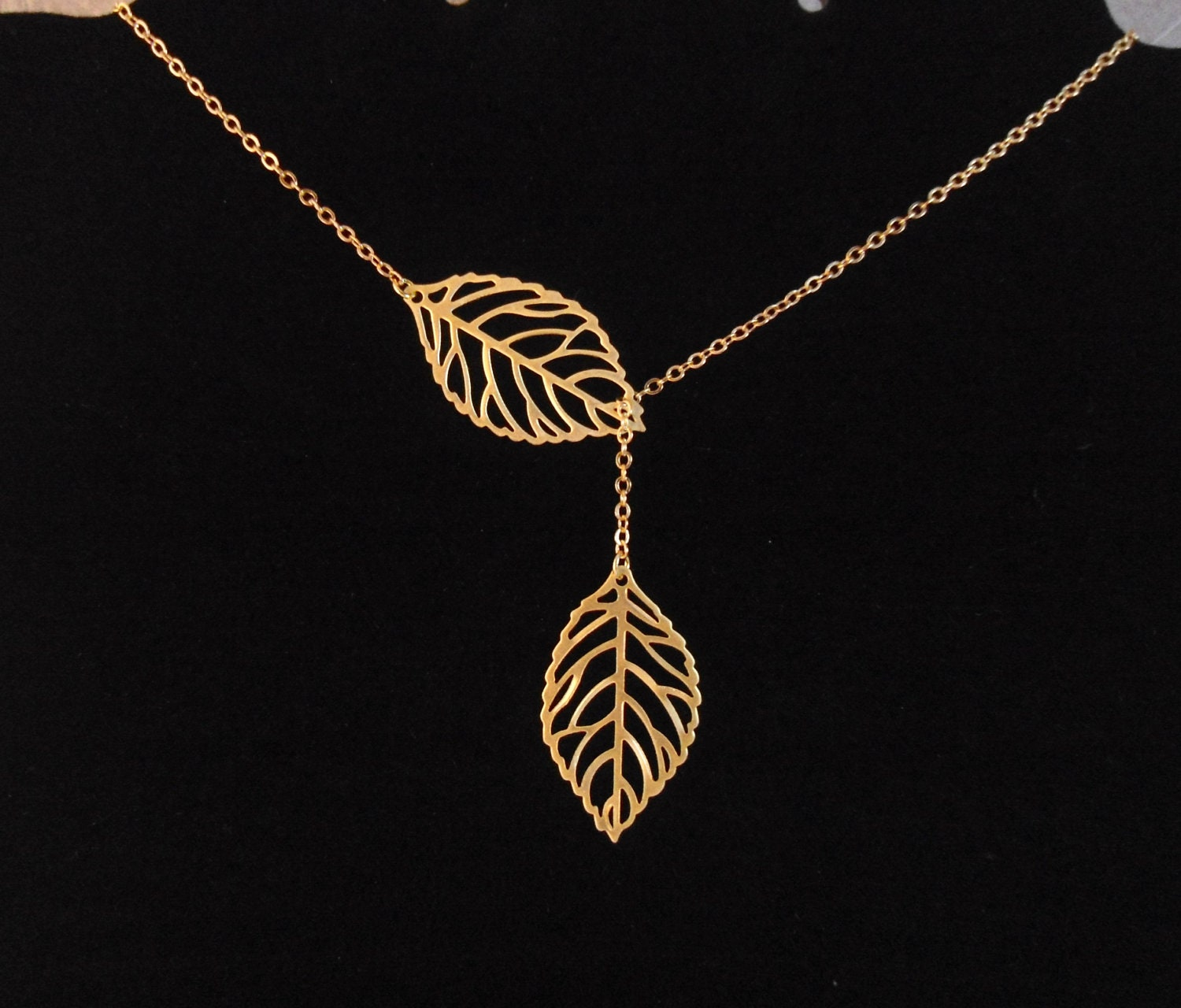 media products leaves necklace matr falling handcrafted boomie gold