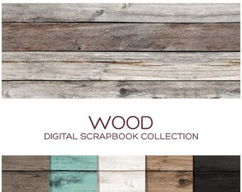 Wood Digital Paper Digital Planner Stickers Digital Download Scrapbook Paper Planner Printable Stickers Digital Background Clipart - C00013