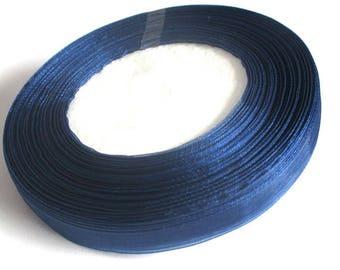 1 reel of 45 m 10mm dark blue organza Ribbon