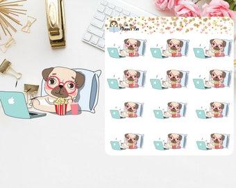 Pug Planner stickers (P1)