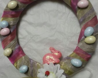 Pink Easter wreath