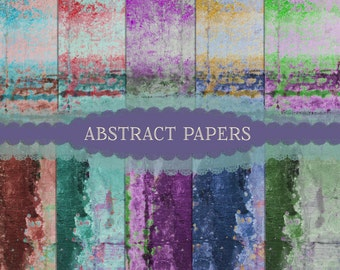Abstract Papers, Blended papers, Textured Papers, Mottled Paper,  Printable paper, Instant Download, Scrapbook Paper