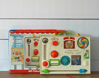 1973 Fisher-Price Activity center, 70 toy, Fisher-Price original box, Baby toy, Shower gift, Fisher-Price 134, Kid gift, Christmas gift