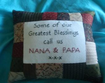 nana & papa  pillow