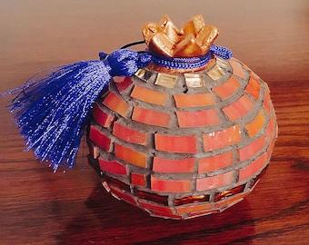 Modern Decorative Glass Mosaic Pomegranate
