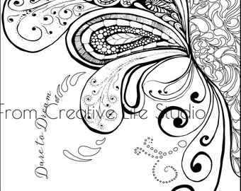 Paisley Splash Adult Coloring Page
