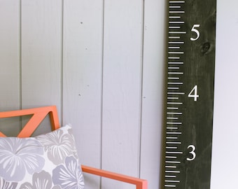Growth Chart - Height Chart - Child Growth Chart - Painted Wood - Handmade Growth Chart