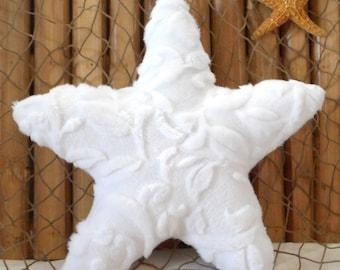 Small starfish pillow, minky pillows, nautical decor, beach pillows, nautical baby, shelf sitters, starfish ornies, coastal decor