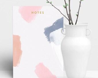 Brush Strokes Blank Notepad