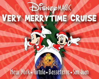 Disney Magic Very Merrytime Christmas Cruise Magnet 5x7