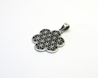 Flower of Life jewelry pendant sterling Silver 925