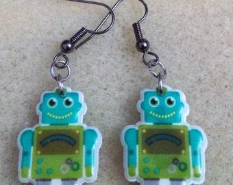 Cute robot earrings