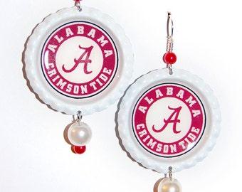 Alabama Crimson Tide Inspired Earrings