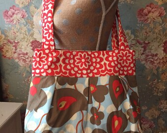 Amy Butler fabrics  pleated diaper bag handbag