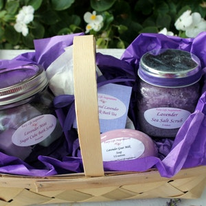 Lavender Bath and Beauty Gift Basket|Spa Gift Set|Spa Gift Basket|Spa Kit|Bath and Body Gift|Best Friend Gift|Bridal Shower|Bridesmaid Gift