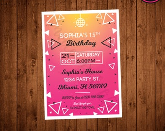 Teen birthday invite etsy dance party birthday party invitation printable teen tween fun teen birthday filmwisefo Images