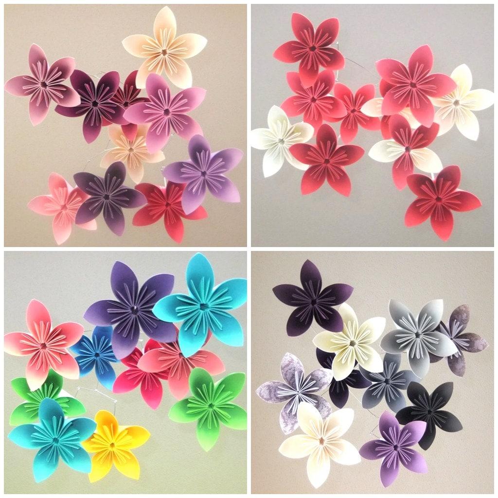 Flower Baby Mobile Custom Mobile Paper Flower Mobile Paper