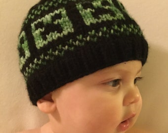 Minecraft beanie: sizes newborn-adult! *most sizes available now*