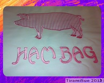 HAM BAG Machine Embroidery/Applique for the 5 x 7inch/130x180mm Hoop