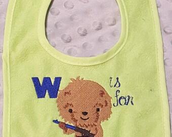W is for Wookie! Bib