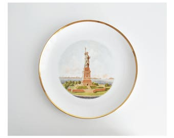 Vintage Statue of Liberty Souvenir Plate // NYC // New York
