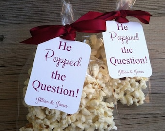 """30 Personalized Favor Tags, 3""""H x 2""""W, Die cut tags, Wedding tags, Engagement tags, Favor tags, Gift tags"""