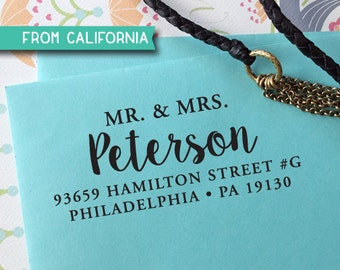 Mr & Mrs ADDRESS STAMP with proof from USA, Eco Friendly Self-Inking stamp, return address stamp, custom stamp, custom address stamp 276