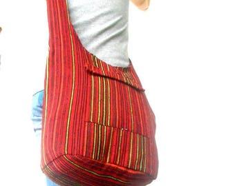 Shoulder Bag Sling Thai Hippie Hobo Nepal Red color Bag Hobo Crossbody Bag Boho Bohemian Bag Purse Multi Color Messenger Sling Gift Bag