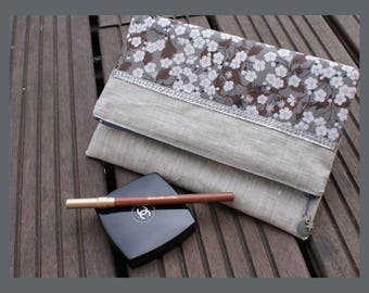"""""""lovely liberty"""" folded pouch laminated cotton linen"""